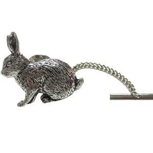 Pewter Rabbit Tie Tack
